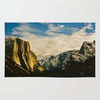 yosemite Area & Throw Rugs featuring Yosemite Valley  by Biff Rendar