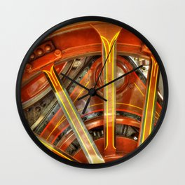 Steam Traction Engine Wheel Wall Clock