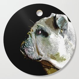 english bulldog dog vector art Cutting Board