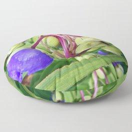 Spiderworts Flower Stems Floor Pillow