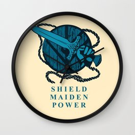 shield maiden POWER Wall Clock