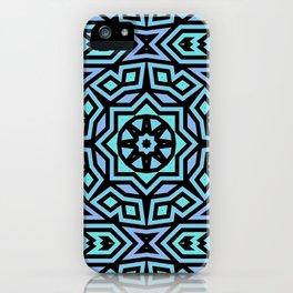 Aqua/Lilac/Black Tribal Pattern iPhone Case