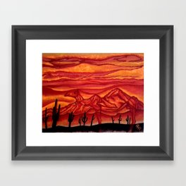 Camelback Mountain Phoenix, AZ Framed Art Print