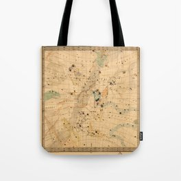 Constellation Chart 1830 Tote Bag