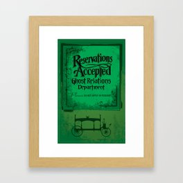 If you look closely, in the horseless hearse  Framed Art Print
