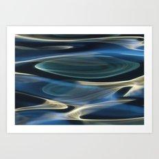Water / H2O #2  (water abstract) Art Print
