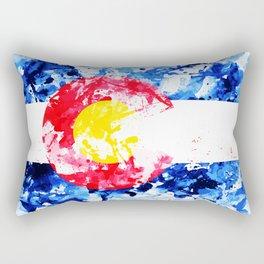COLORADO PAINT FLAG Rectangular Pillow