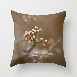 spring is upcoming Throw Pillow