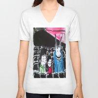 donnie darko V-neck T-shirts featuring Donnie Darko - At the Cinema  by Ayemaiden