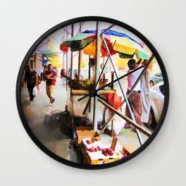 Street Vendors 2 Wall Clock