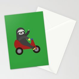 Sloth on Tricycle Stationery Cards