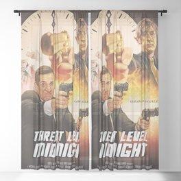 Threat Level Midnight Sheer Curtain