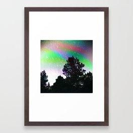 Trippy Sillouette Framed Art Print
