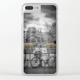 AMSTERDAM Gentlemen's Canal | upright panoramic view Clear iPhone Case