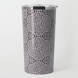 Grey Lace Coin Vintage Inspired Design Travel Mug