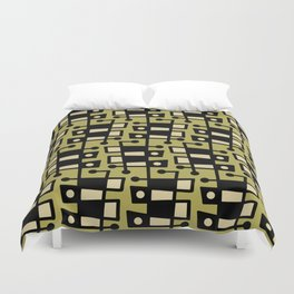 Mid Century Modern Abstract 212 Chartreuse Duvet Cover