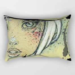 Love Face Ink Rectangular Pillow
