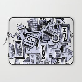 Jumbled City full of assorted junnk Laptop Sleeve