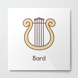 Cute Dungeons and Dragons Bard class Metal Print