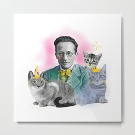 Schrödinger's Birthday Party Metal Print