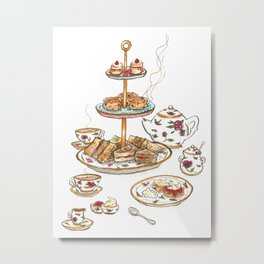 You are invited for tea Metal Print