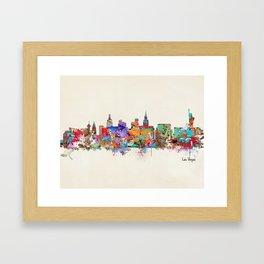 Las Vegas Nevada skyline Framed Art Print