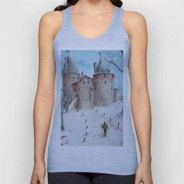 Castell Coch (Red Castle) - Winter Unisex Tank Top