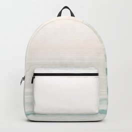 Washed Out Ocean Waves // California Beach Surf Horizon Summer Sunrise Abstract Photograph Vibes Backpack