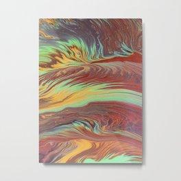 The Flow of Wood Metal Print