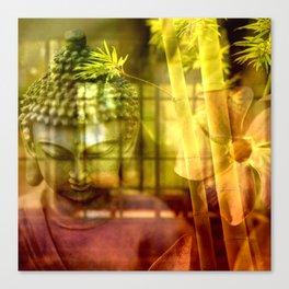 Zen & Spiritual Relaxation - Buddha & Bamboo Canvas Print