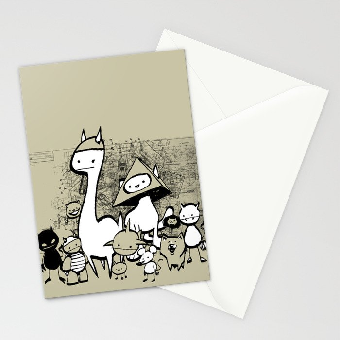 minima - coup Stationery Cards