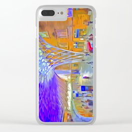 London Pop Art Clear iPhone Case