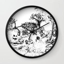 Little House - Lithograph Wall Clock