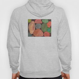 Lovely colorful Stones on dark Background Hoody