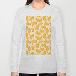 Yellow Cats Pattern Long Sleeve T-shirt