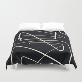 Movements Black Duvet Cover