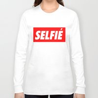 selfie Long Sleeve T-shirts featuring Selfie by Poppo Inc.