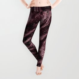 Rosewood velvet gem Leggings
