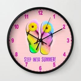 Step into Summer! Wall Clock