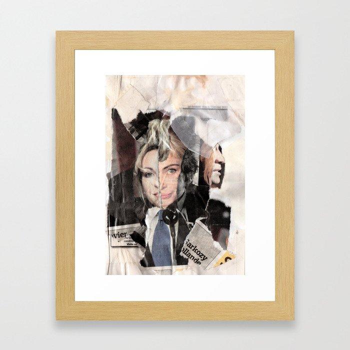 Sarkozy Collage Framed Art Print