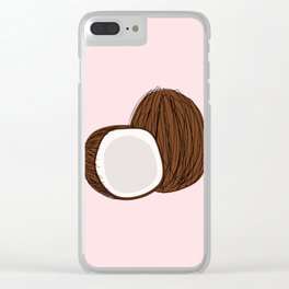 Coconuts Clear iPhone Case