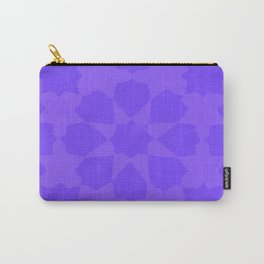 Flower Of Morocco - Blue Abstract Pattern Carry-All Pouch