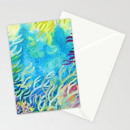 Underwater seaweed Stationery Cards
