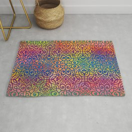 DP050-1 Colorful Moroccan pattern Rug
