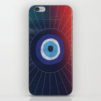 evil eye iPhone & iPod Skins featuring Evil Eye by DuckyB