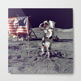 USA  Astronaut Moon Landing Metal Print
