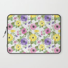 Spring Bouquet Watercolor Laptop Sleeve