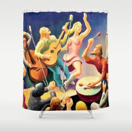 Classical Masterpiece 'Youth Music' by Thomas Hart Benton Shower Curtain