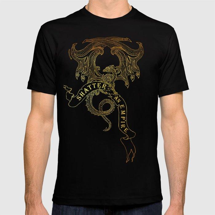 """Shatter an Empire"" Dragon with Banner - Terah Edun. T-shirt"