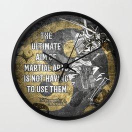 Miyamoto Musashi Samurai Martial arts Wisdom Wall Clock